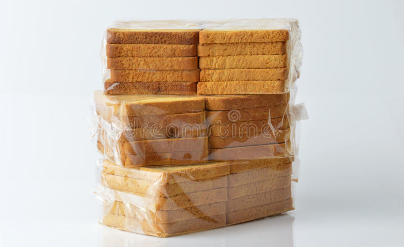 Group of rusks stock image