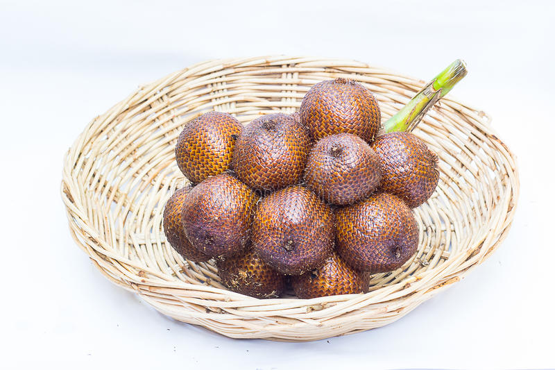 A group of salak in basket . royalty free stock image