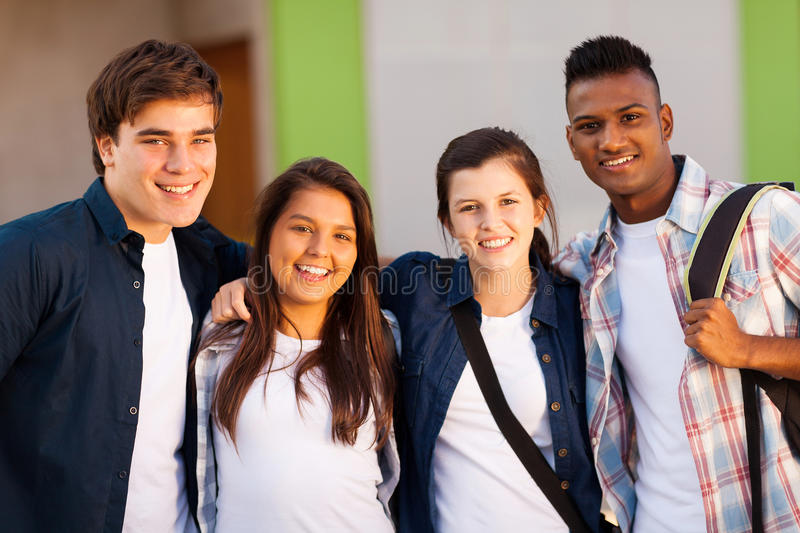 Group school students royalty free stock photos