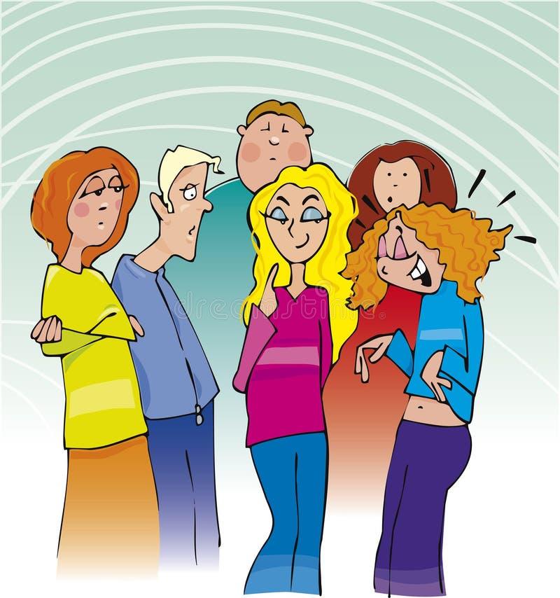Download Group of school teenagers stock vector. Image of humor - 7745085