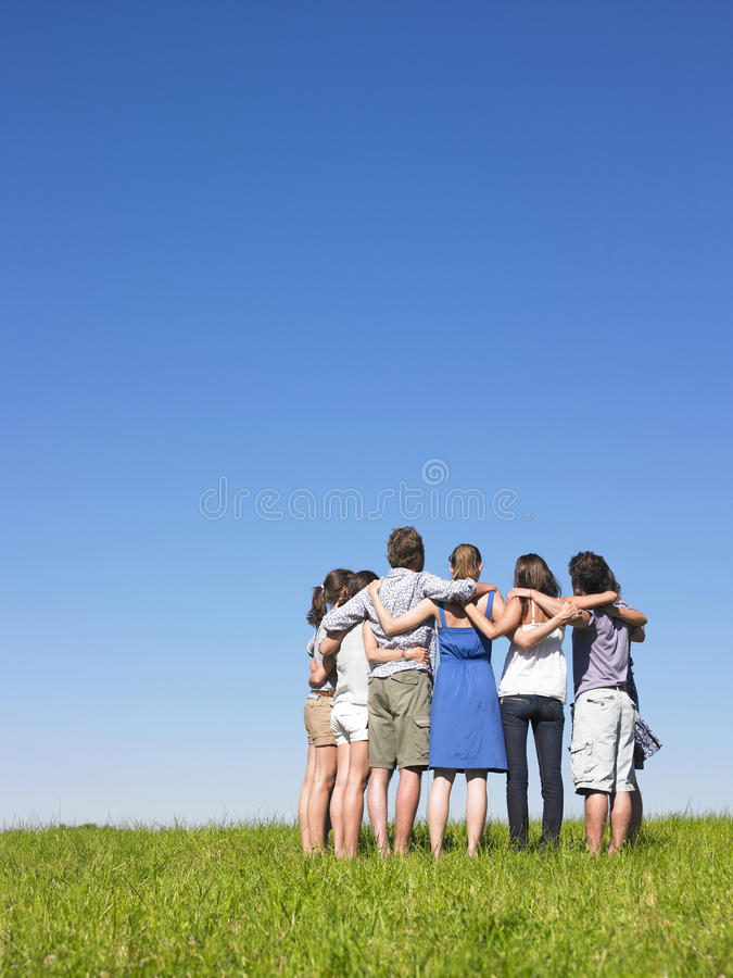 Group in semicircle royalty free stock photography