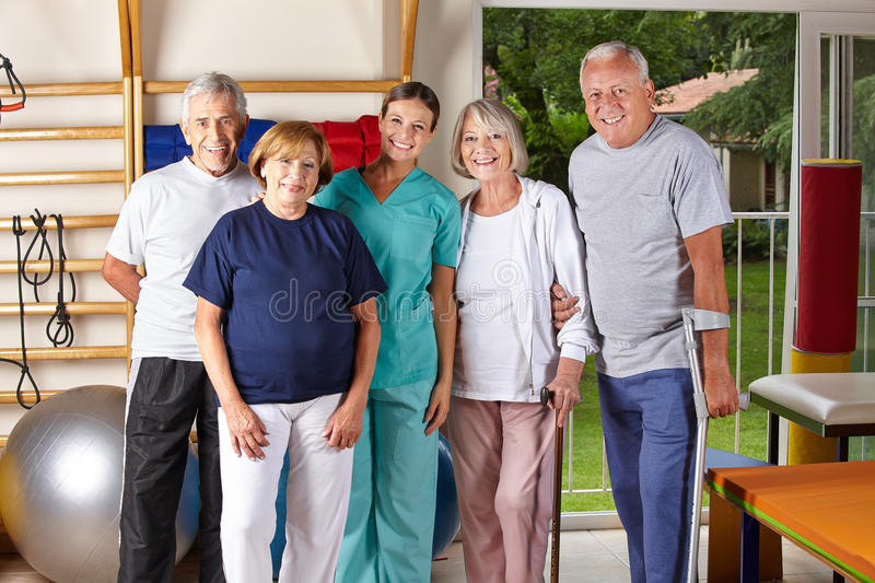 Download Group of senior people stock image. Image of disability - 29021357