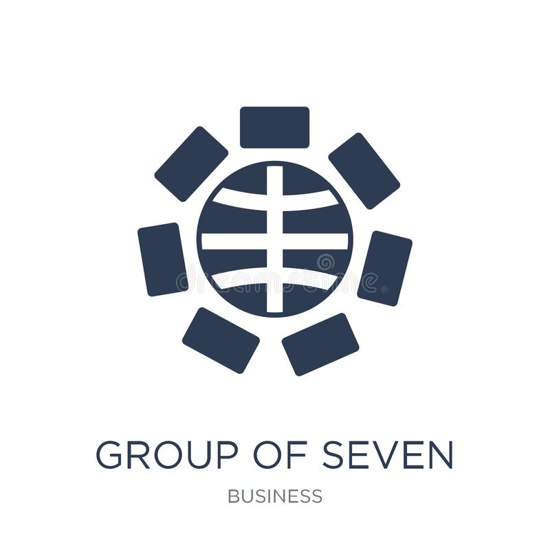 Group of Seven (G7) icon. Trendy flat vector Group of Seven (G7) icon on white background from Business collection vector illustration