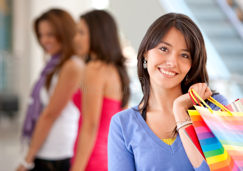 Download Group of shoppers stock image. Image of happiness, charming - 8208323