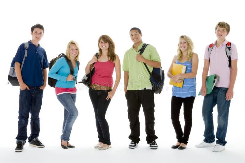 Group Shot Of Teenage School Kids.  royalty free stock image
