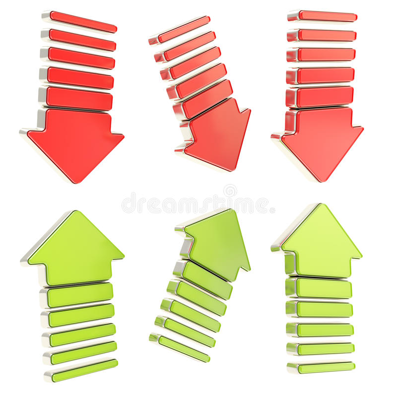 Group Of Six Isolated Arrows Stock Photography