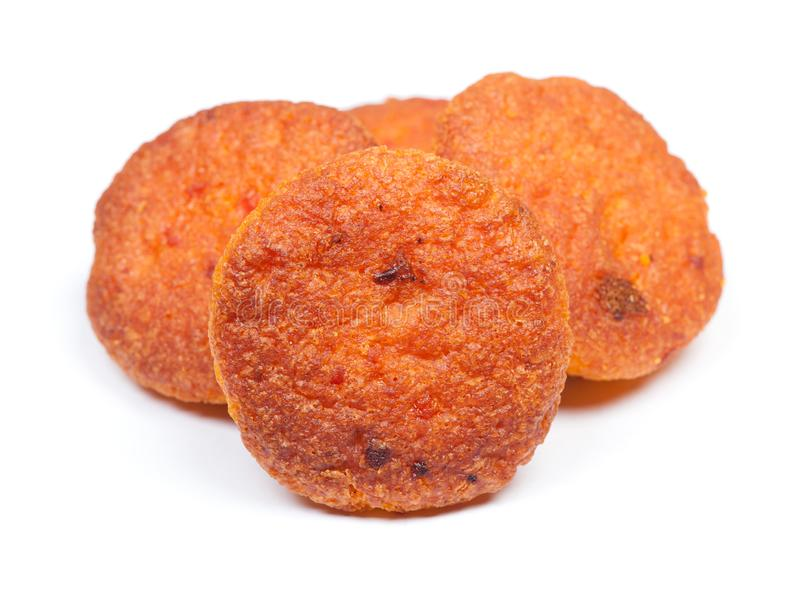 Group of small thin carrot muffins royalty free stock photography