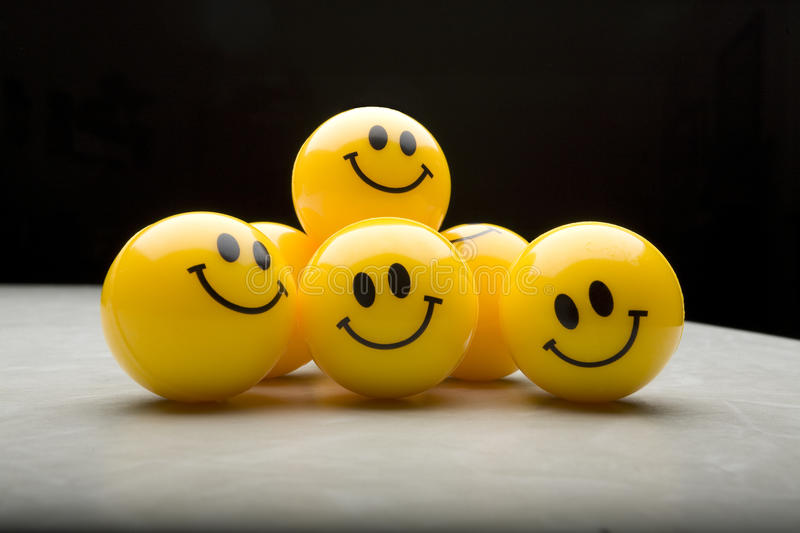 Group of Smiley Faces royalty free stock photography