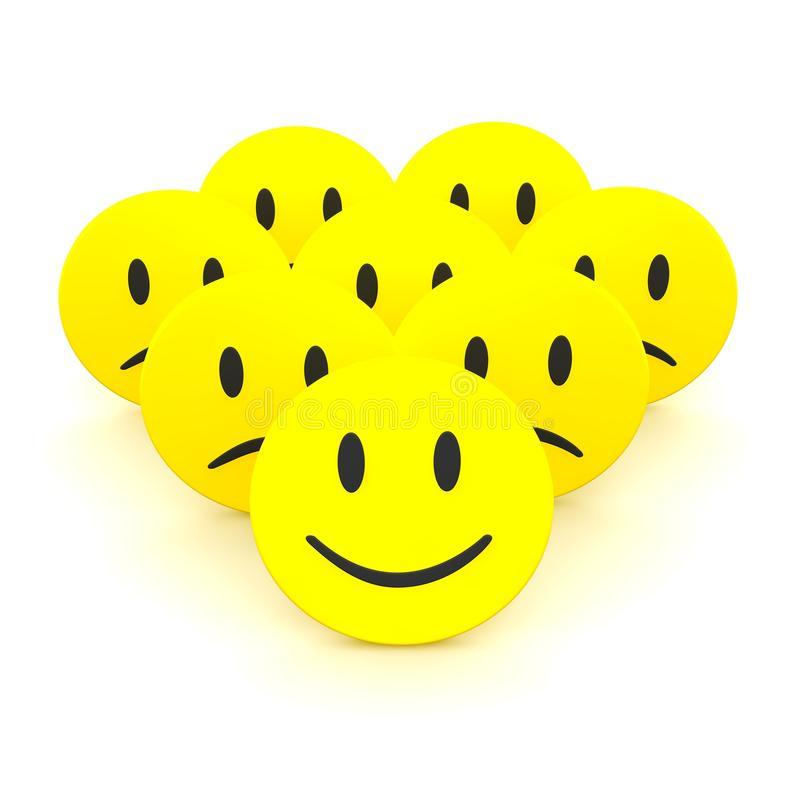 Download Group of smileys stock illustration. Illustration of icon - 12532507