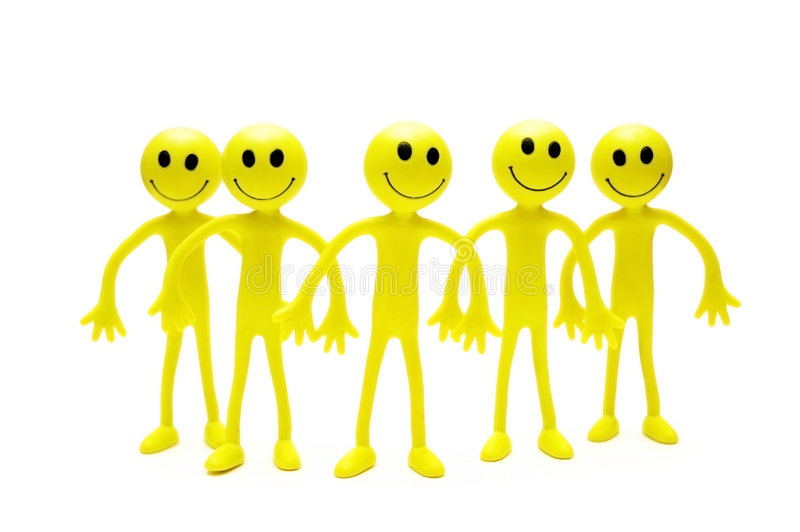 Group Of Smilies Isolated Royalty Free Stock Photos