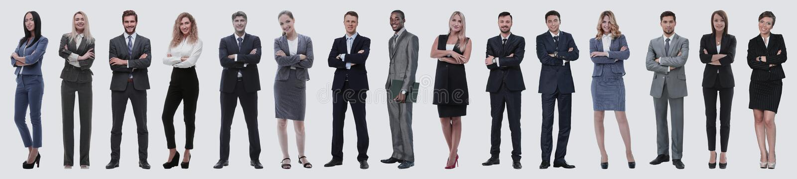Young attractive business people - the elite business team stock images