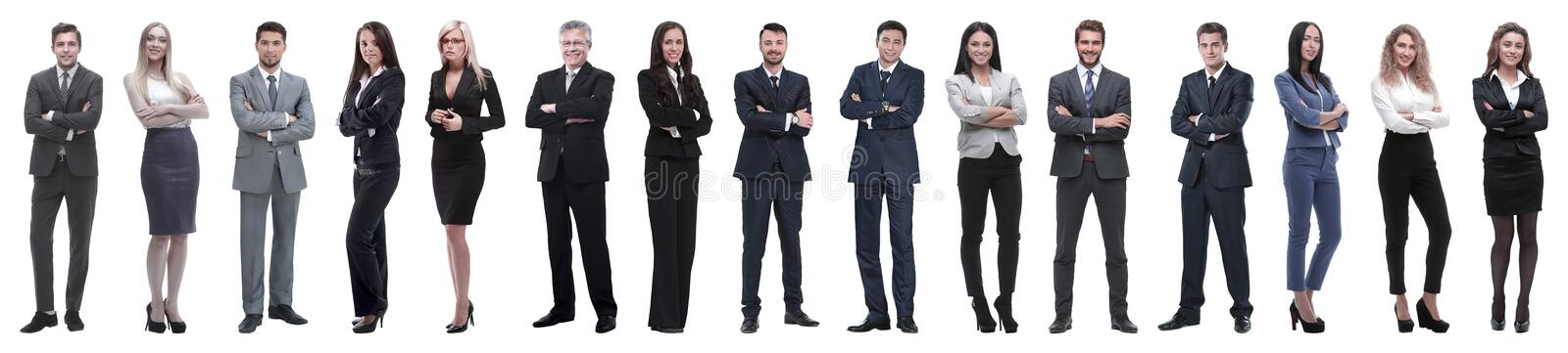 Young attractive business people - the elite business team royalty free stock photo