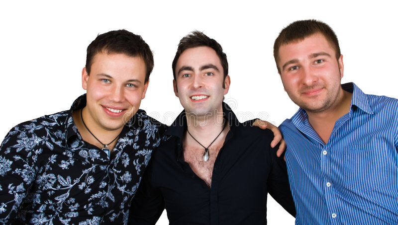 Group of smiling friends royalty free stock photo