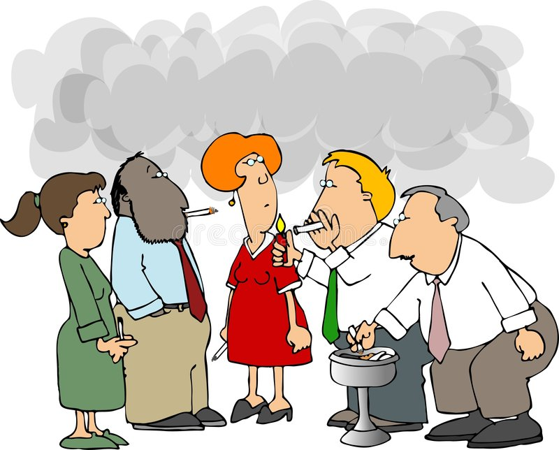 Group Of Smokers Royalty Free Stock Photos