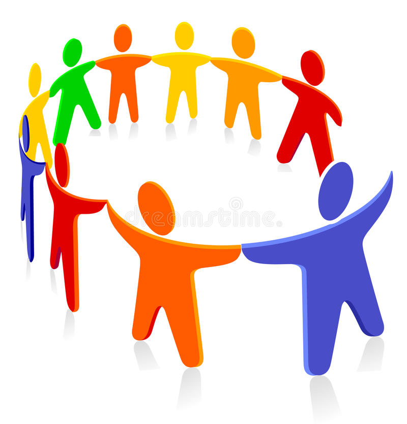 Download Group solidarity stock vector. Image of solidarity, together - 15821443