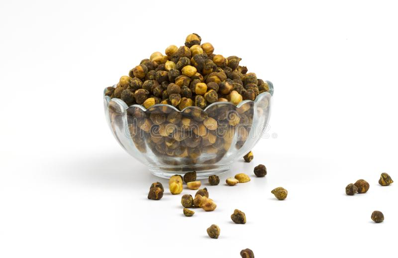 Gram. Group of spicy chana or gram isolated royalty free stock photos