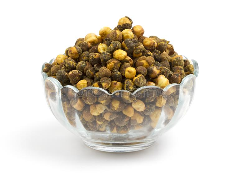 Gram. Group of spicy chana or gram isolated royalty free stock photography
