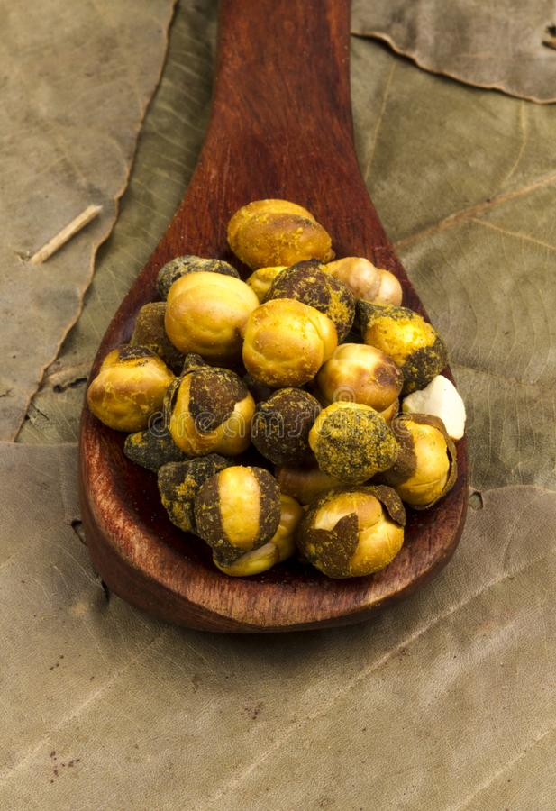 Gram. Group of spicy chana or gram isolated stock images