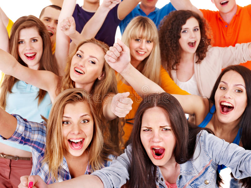 Group sport fan cheer for.