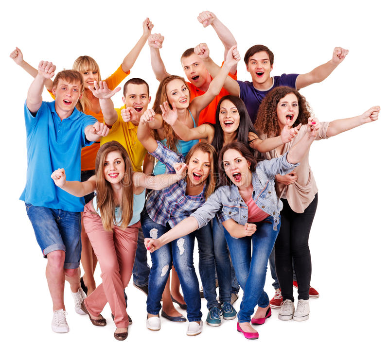 Download Group sport fan cheer for. stock photo. Image of super - 28031756