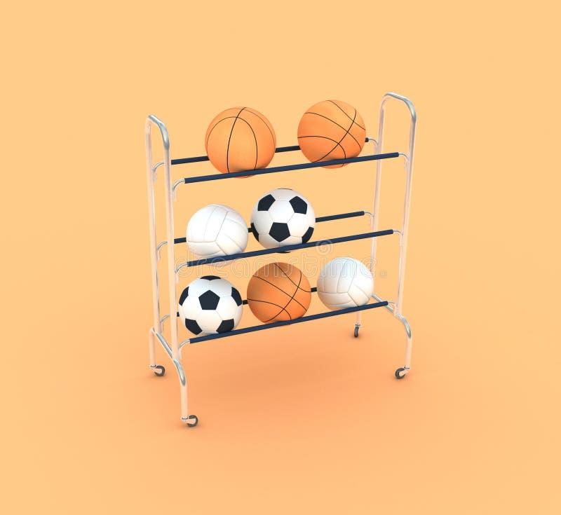Group of sports balls stock photos