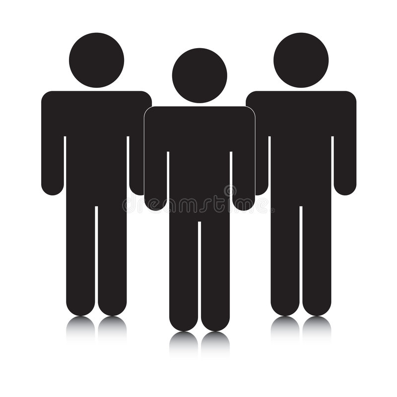 Group of stickmen silhouettes stock photography