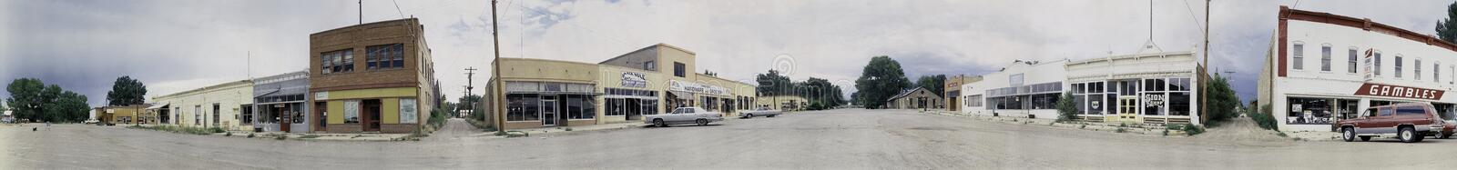Group of storefronts in New Mexico stock photo
