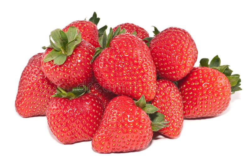 Group of strawberries stock image