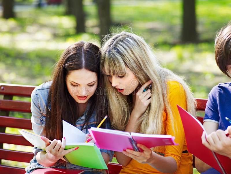 Download Group Student With Book Outdoor. Stock Photography - Image: 26141622