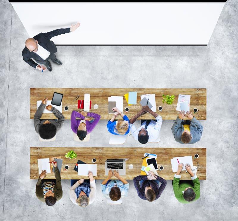 Group of Student Studying Photo Illustration. Multiethnic Group of Student Studying in Photo and Illustration royalty free illustration