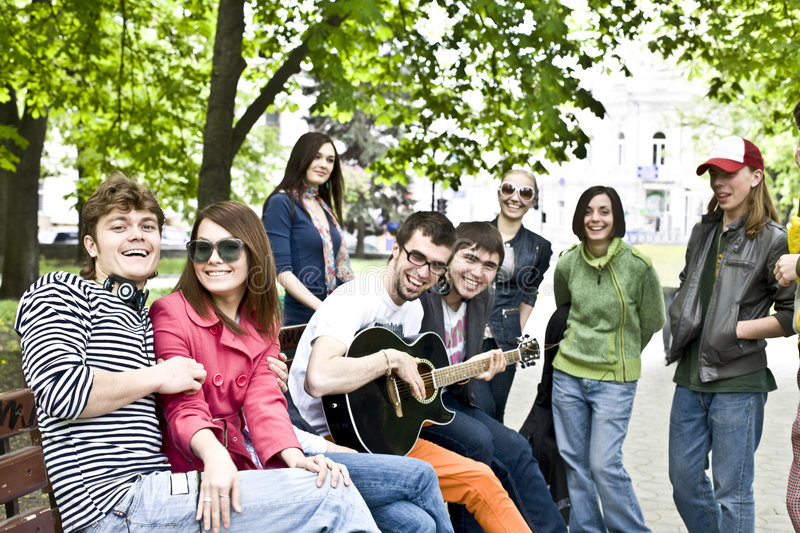 Download Group Of Student On  Weekend. Stock Image - Image: 9248271