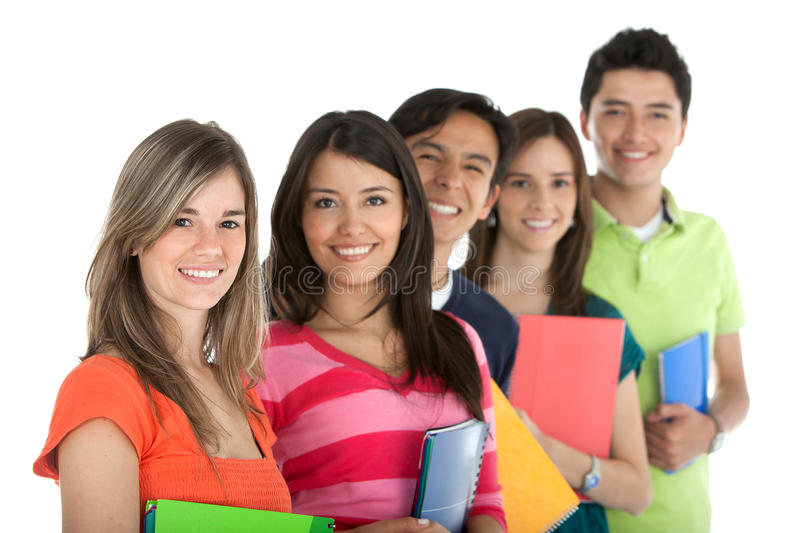 Download Group of students stock image. Image of holding, person - 15426575