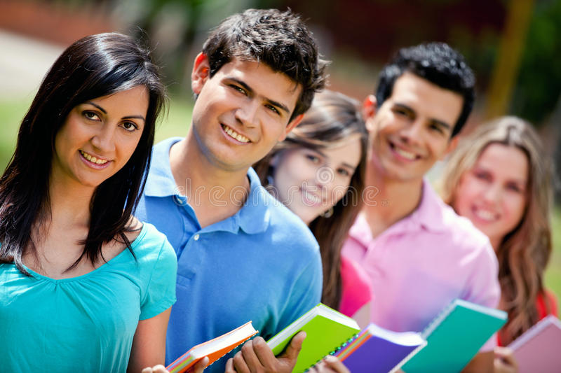 Download Group of students stock photo. Image of people, girls - 18695206