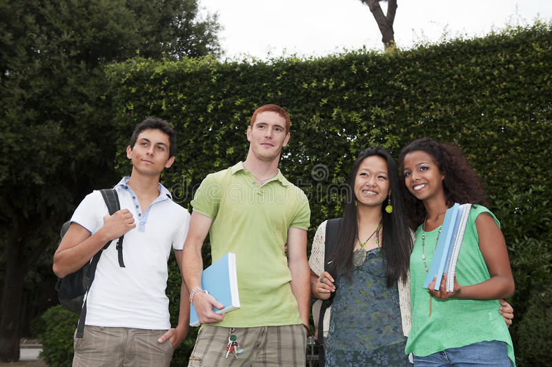 Group of students stock photos