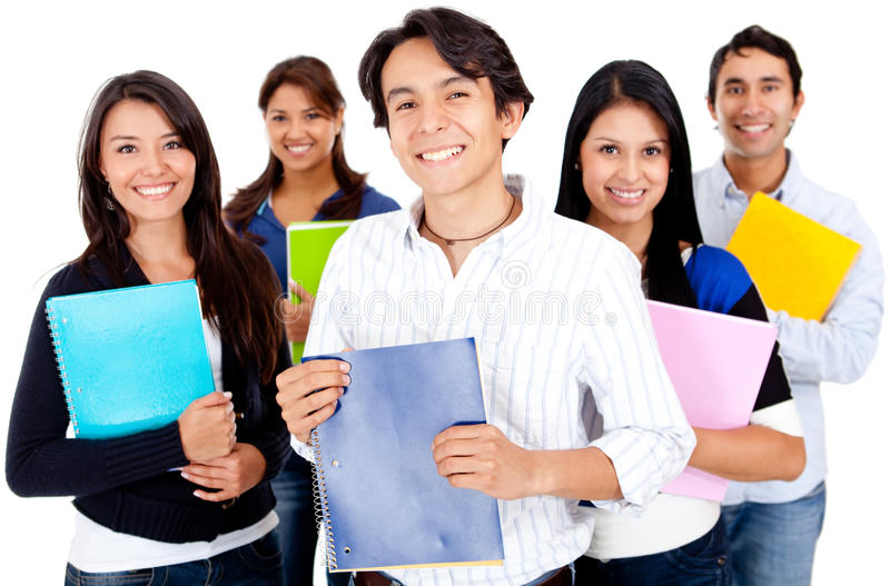 Download Group of students stock image. Image of females, content - 24524859