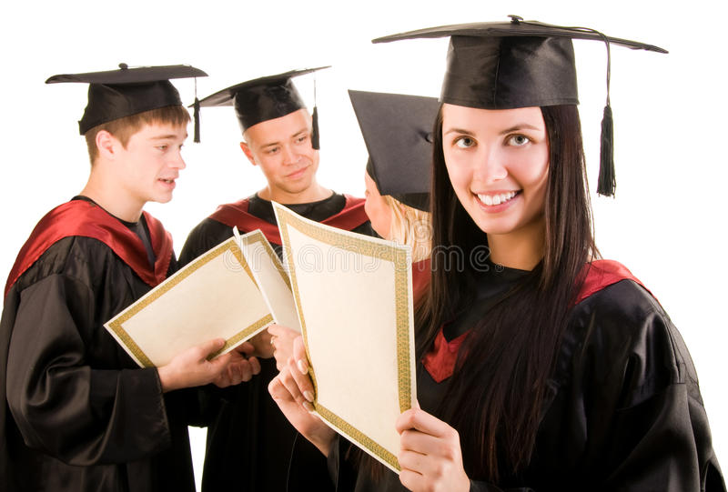 Download Group of students stock photo. Image of certificate, class - 9910320