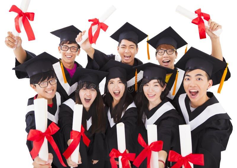 Group Of Students Celebrating Graduation royalty free stock image