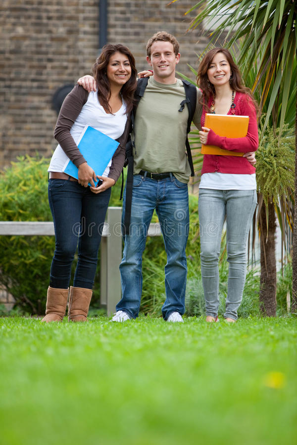 Download Group of students outdoors stock image. Image of girls - 16035779