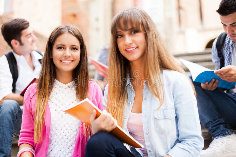Group of students. Selective focus royalty free stock images