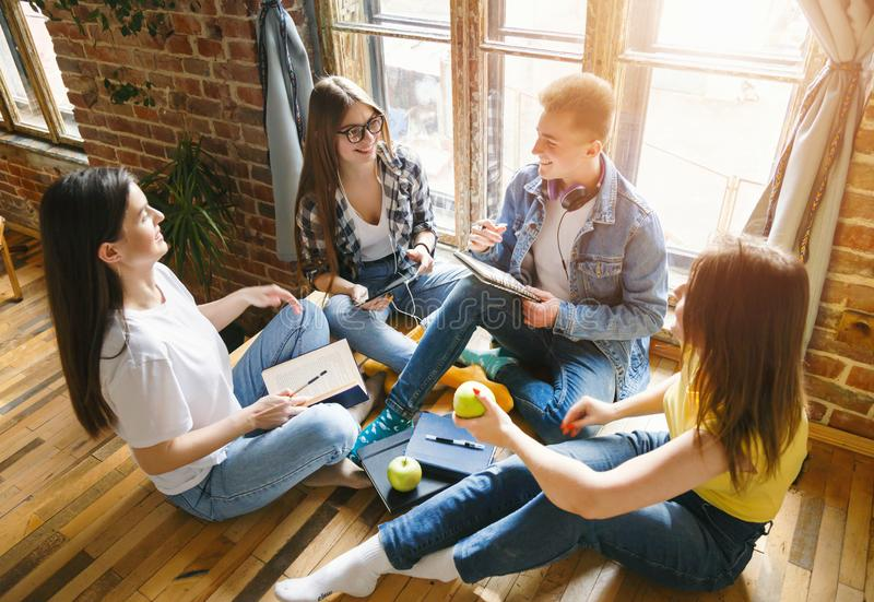 Group of Students Chatting royalty free stock photography