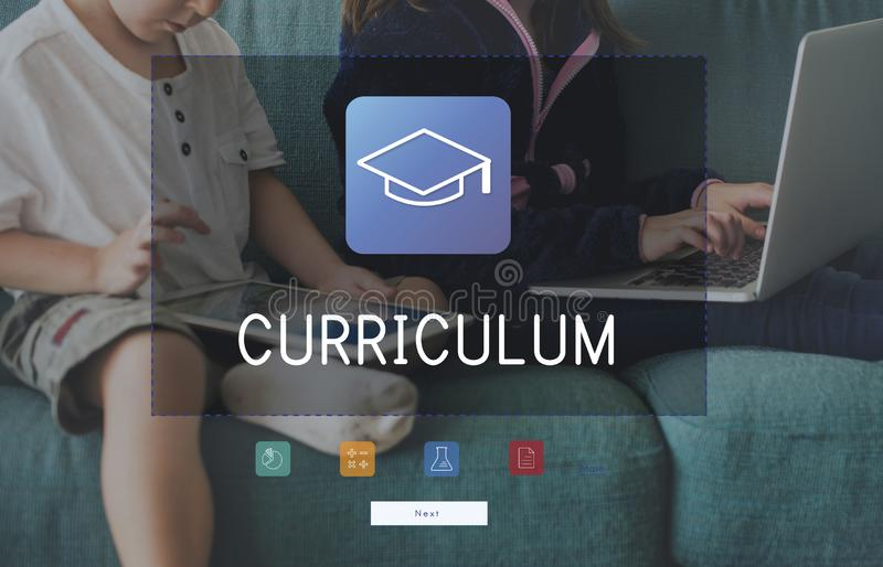 Group of students study literacy academics education mortar board graphic royalty free stock image