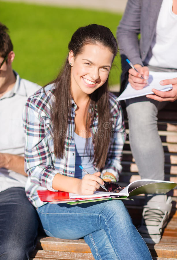 Download Group Of Students Or Teenagers Hanging Out Stock Image - Image: 35015591