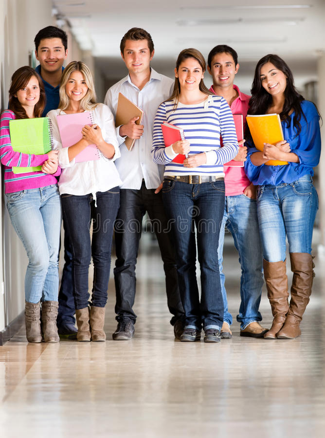 Download Group Of Students At The University Stock Image - Image: 25493459