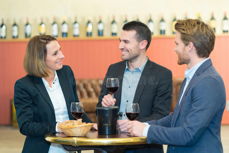 Group successful business people celebrating great deal agreement royalty free stock image