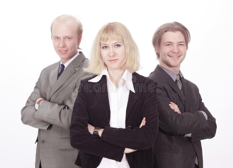 Group of successful business people.isolated on white. stock images