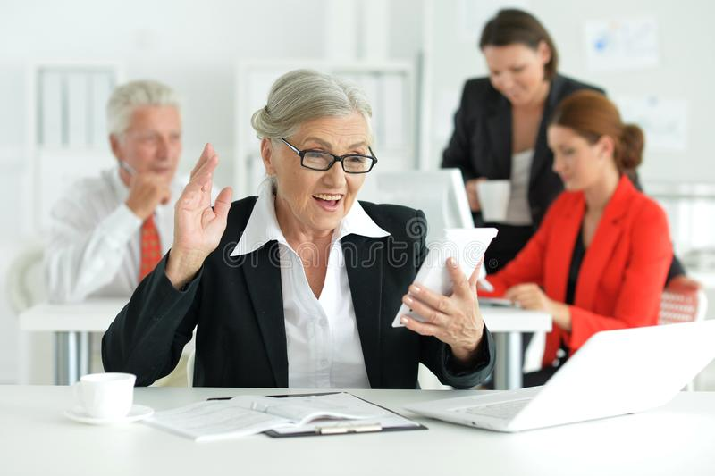 Portrait of group of successful business people stock photography