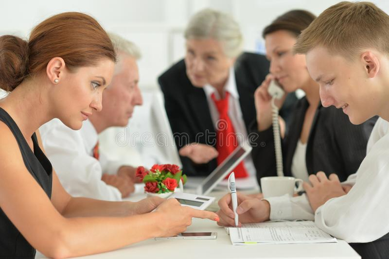 Portrait of group of successful business people royalty free stock photos