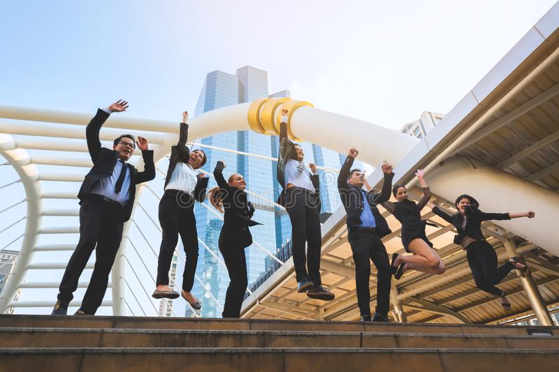 Group of successful professional business team royalty free stock photos