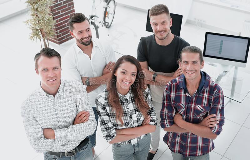 Group of successful young designers stock images