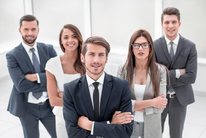 Group of successful young people smile royalty free stock photography